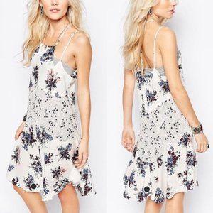 Free People Crescent Floral Slip Dress